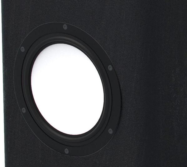 Vue de détail d'un des deux haut-parleurs de grave de 21 cm de l'enceinte Elipson Legacy 3230