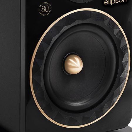 Enceinte compacte Elipson Prestige Facet 8B 80e Anniversaire : Contour à facettes des haut-parleurs