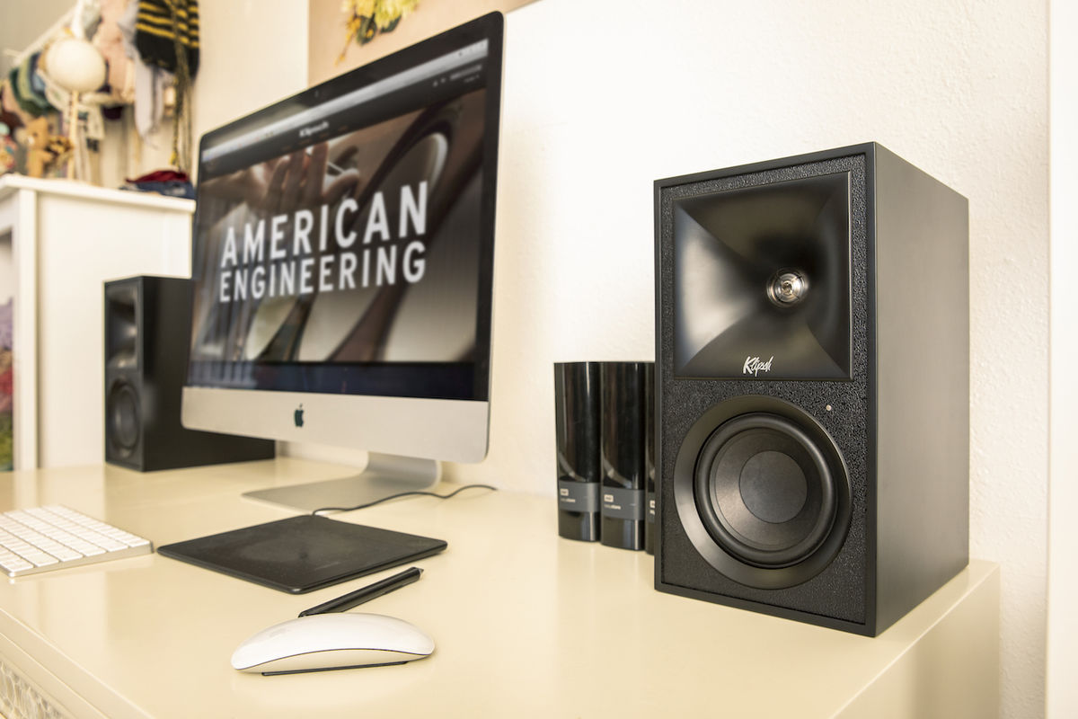 Enceinte connectée Klipsch The Fives : paillon Tractrix