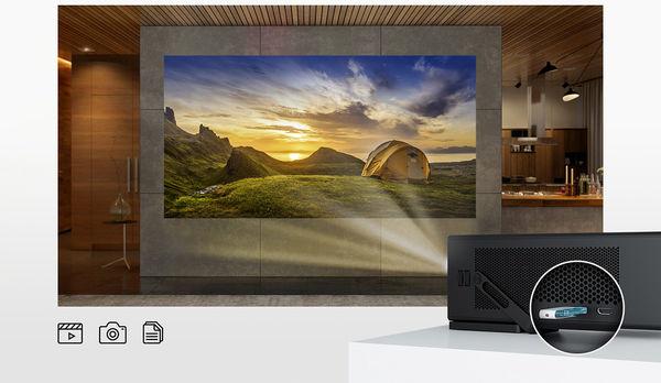 LG HU80KSW : lecteur multimédia USB