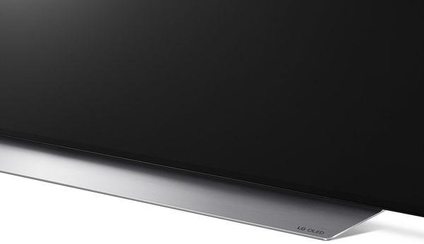 LG OLED48C1 : vue de détail du pied