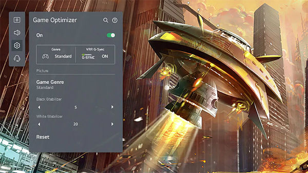 LG OLED48C1 : menu Game Optimizer