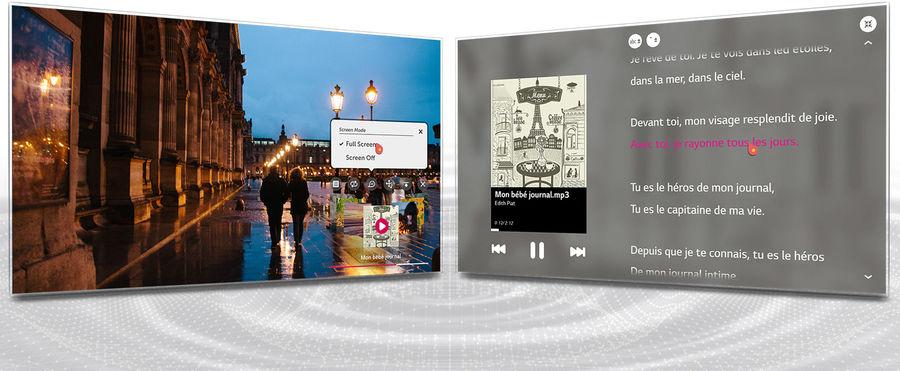 TV Connectée LG webOS : lecteur musical