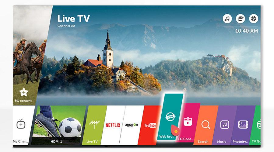 TV Connectées LG : page d'accueil webOS