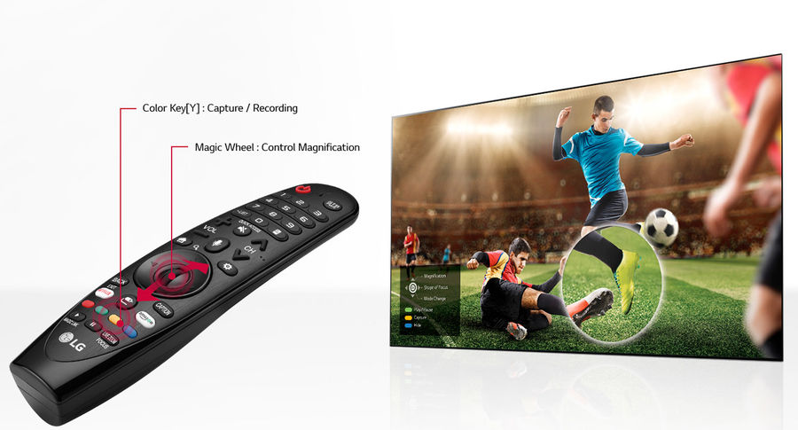 TV connectée LG : télécommande Magic Remote