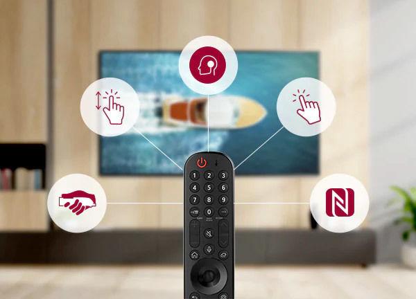 LG OLED55G1 : télécommande universelle