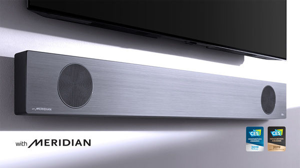 LG SL9YG : technologie Meridian, décodage Dolby Atmos & DTS:X