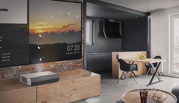 Le vidéoprojecteur Optoma CinemaX P2 projette une grande image 4K HDR dans une chambre ou dans un salon