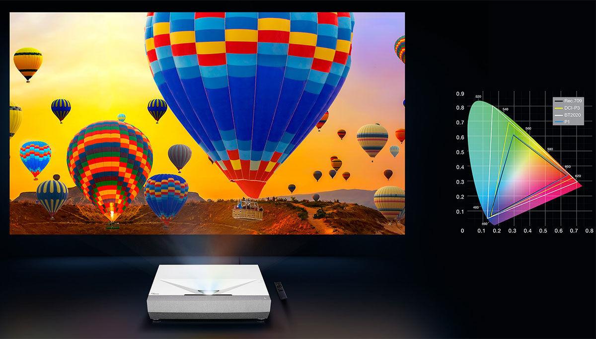 Optoma CinemaX P2: large palette de couleurs