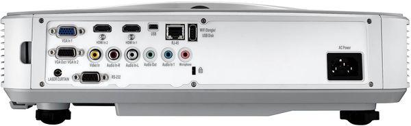 La connectique du vidéoprojecteur Optoma HZ45UST