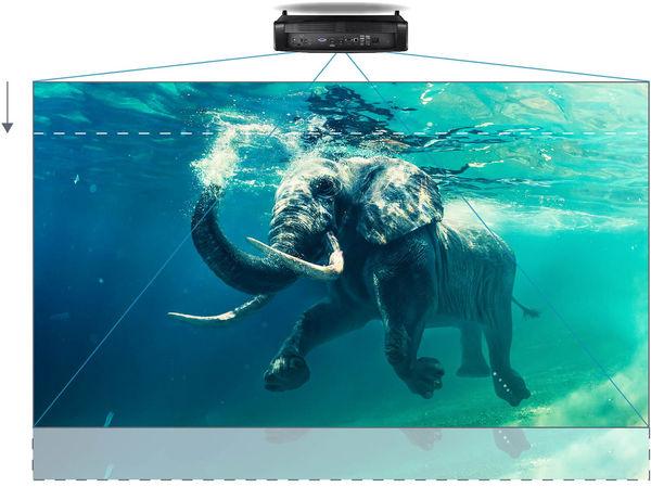 Réglage Lens Shift du vidéoprojecteur Optoma UHZ65LV