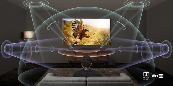 Samsung HW-Q80R  : Dolby Atmos & DTS:X