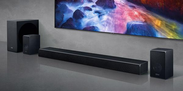 Samsung HW-Q90R : barre de son + surround sans fil + caisson de basses sans fil