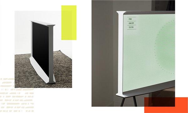 """Samsung Serif QLED 50"""" : décoration d'intérieur"""