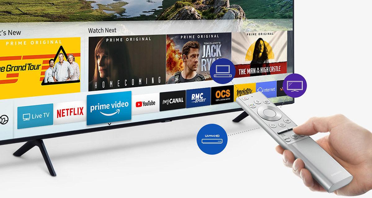 Samsung QE55Q64R : Netflix, Amazon Prime Video, Youtube