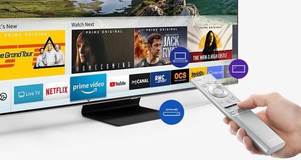 Samsung QE55Q90R : Netflix, Amazon Prime Video, Youtube