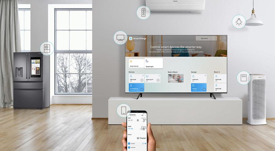TV connectée Samsung QLED et objets connectés