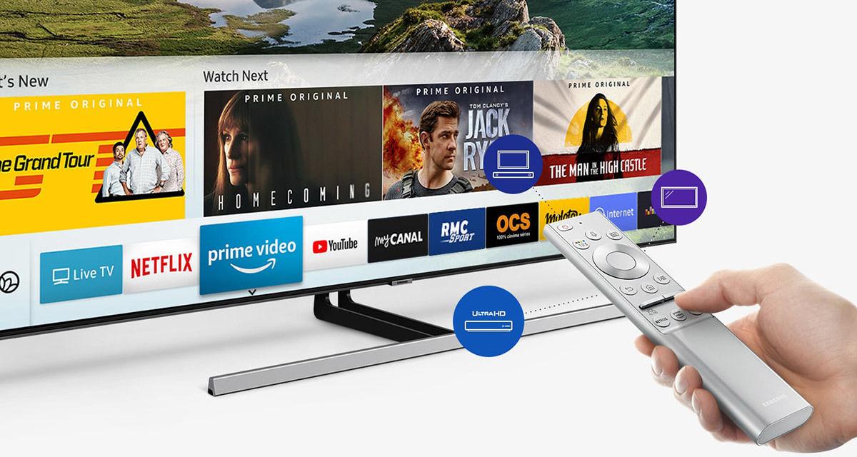Samsung QE75Q85R : Netflix, Amazon Prime Video, Youtube
