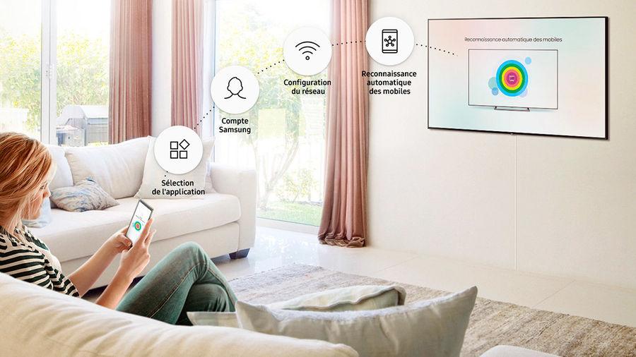 Smart TV Samsung : configuration avec le smartphone