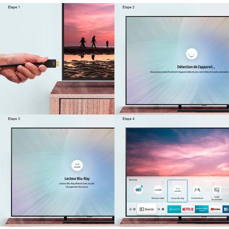 TV connectée Samsung : détection de source automatique