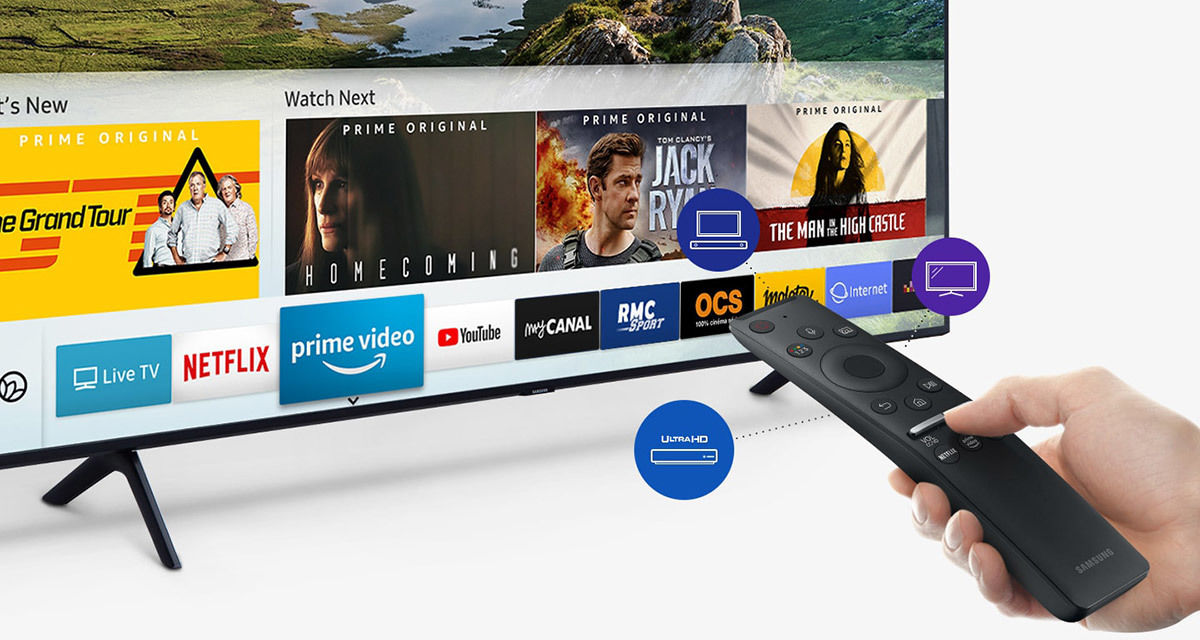 Samsung QE82Q60R  : Netflix, Amazon Prime Video, Youtube