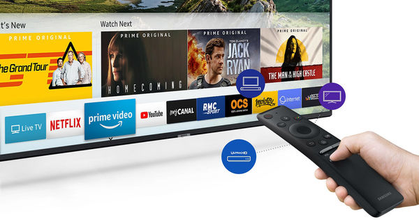 Samsung UE55RU7405 : Netflix, Amazon Prime Video
