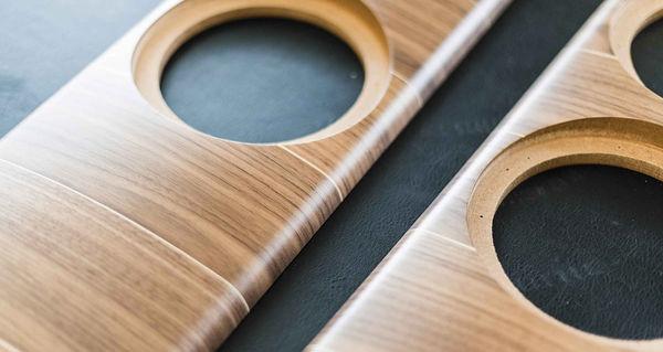 Placage bois des enceintes Sonus Faber Olympica Nova