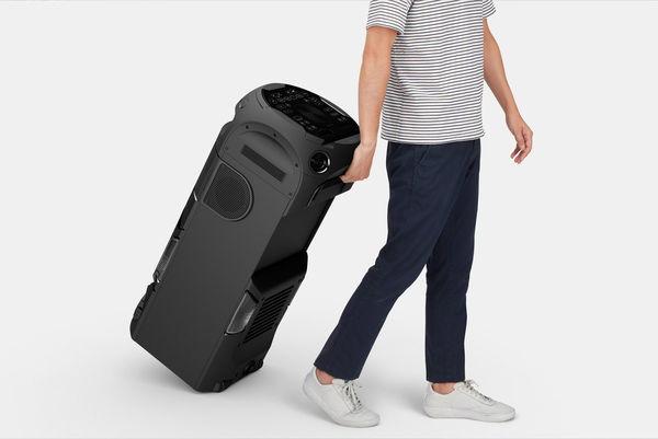 Sony MHC-V72D : roulettes de transport