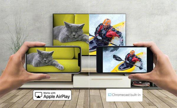 Sony XR-55A80J : Chromecast & AirPlay