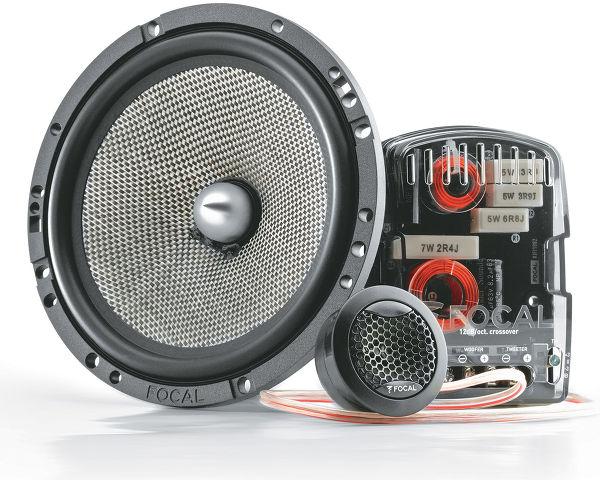 Haut-parleurs voiture éclatés Focal 165 AS