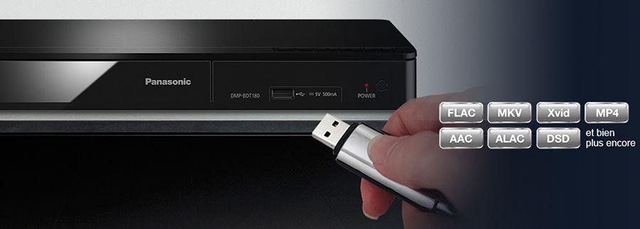 Lecteur Blu-ray Panasonic : fonctions lecteur multimédia USB