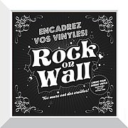Rock on wall Cadre Blanc