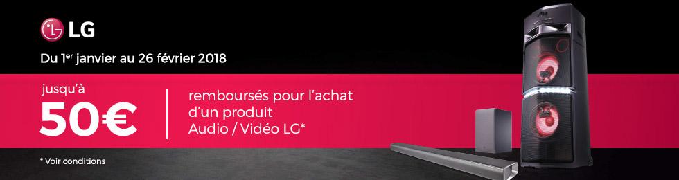 LG vous rembourse 50 €