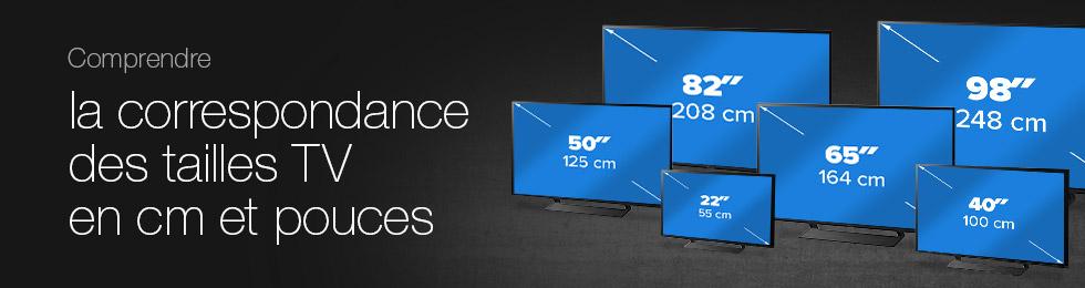 Comprendre la correspondance des tailles TV en cm et pouces