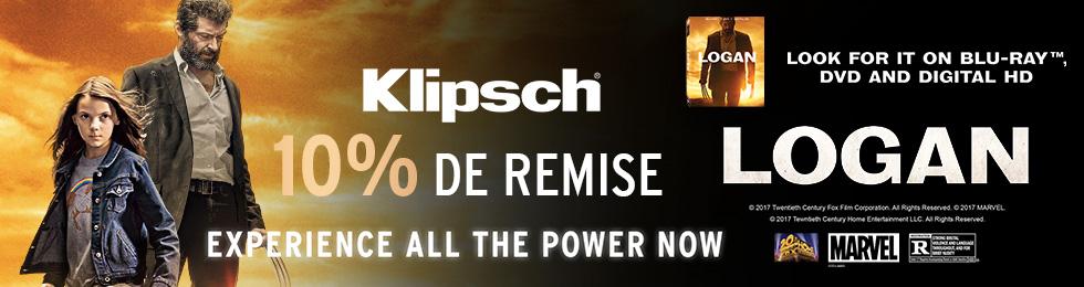 Jusqu'au 31 juillet, Klipsch et Son-Vidéo.com vous offrent 10% de remise sur une sélection de produits Klipsch. J'en profite.
