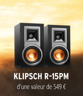 Paire d'enceintes bluetooth Klipsch R-15PM