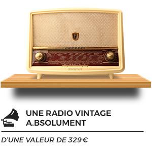 Radio vintage et restaurée avec des composants de dernière génération