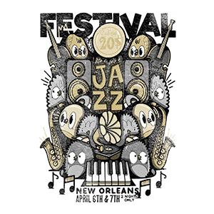 Estampe originale Jazz - Bishop Parigo X Son-Vidéo.com