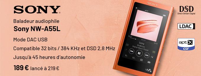Sony NW-A55L : Performances audio et grosse autonomie