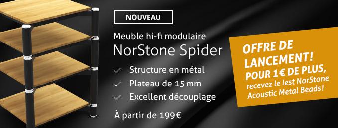 Meuble hi-fi modulaire NorStone Spider : Offre de lancement !