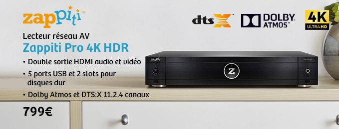 Zappiti Pro 4K HDR : Le lecteur multimédia par excellence