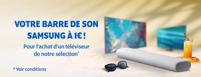 Barre de son Samsung à 1€ : Pour l'achat d'une TV de notre sélection