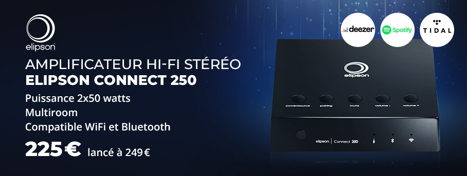 Elipson Connect 250 : Ampli stéréo WiFi / Bluetooth