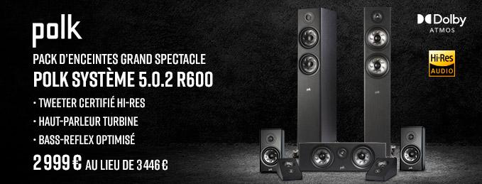 Polk Système 5.0.2 R600 : Pack d'enceintes home-cinéma Dolby Atmos