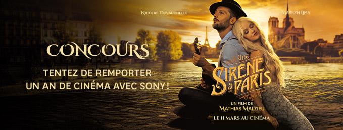 Concours Une Sirène à Paris : Remportez un an de cinéma avec Sony !
