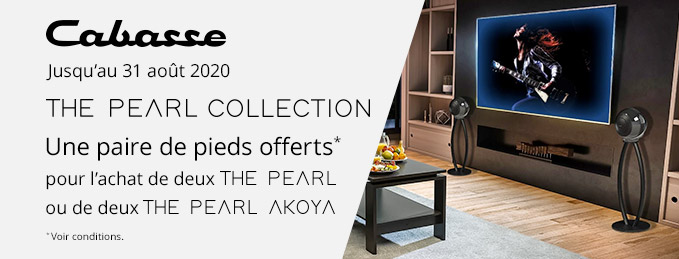 Cabasse The Pearl Collection : Une paire de pieds offerts !