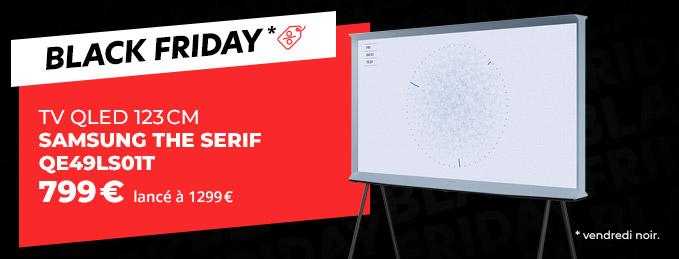 Samsung The Serif QE49LS01T + HW-S41T : TV QLED UHD 4K + Barre de son