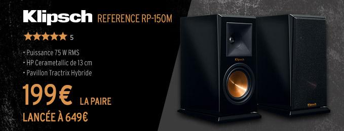 Klipsch RP-150M : Écoute dynamique et transparente