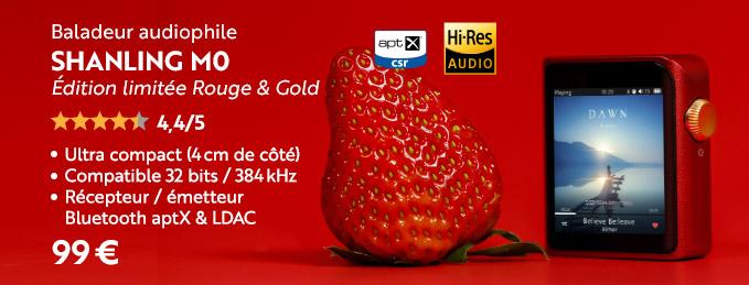 Shanling M0 : Édition limitée Rouge & Gold