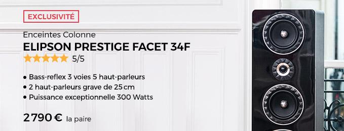 Enceinte Elipson Prestige Facet 34F : Le nouveau monument de la Hi-Fi